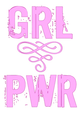 Power girl vector phrase Lettering for posters cards t-shirt design.