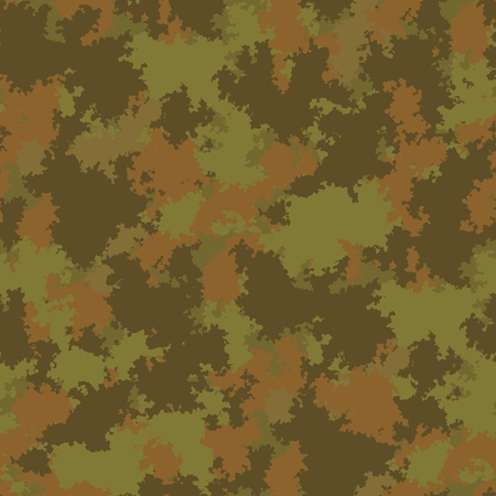 Khaki swamp forest quagmire seamless pattern. Vector seamless pattern camouflage design. Moss woodland seamless vector camo. Camouflage fabric pattern. Vector Illustration