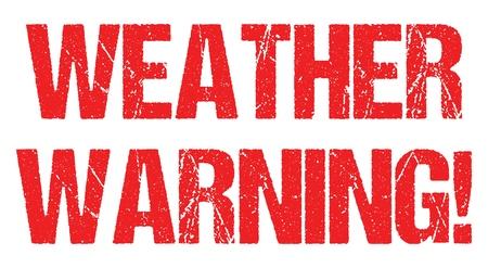 Ciclone avviso uragano meteo avviso errore di battitura intestazione notizie logo banner design vettoriale
