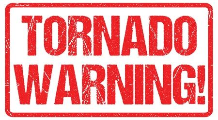 Segnale di avvertimento di tornado weather alert typo header news banner design vector Vettoriali