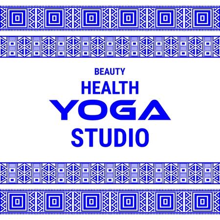 Name of yoga studio on a white background. Yoga sticker.