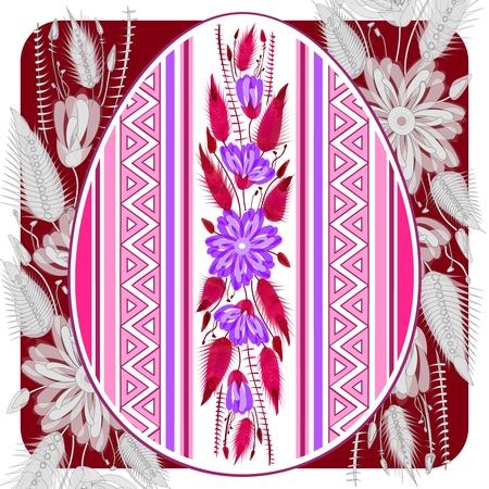 Beautiful Easter egg hunt invitation flyer, template for card or poster Illustration