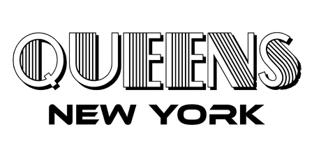 Queens New York City Urban Typography for Print Apparel