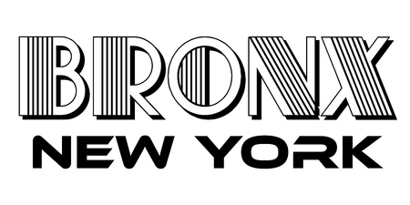 Bronx New York City Urban Typography for Silk Screen Print Apparel Modern Design.