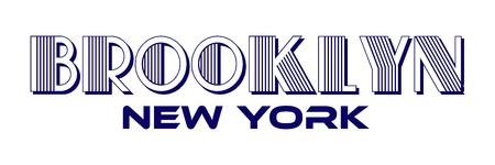 Brooklyn New York City Urban Typography for Silk Screen Print Apparel Modern Design.