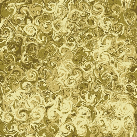 Marble gold abstract background. Digital painted vector marbled texture.