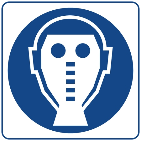 Mandatory Signs - Protective Mask Must Be Worn In This Area. Illustration