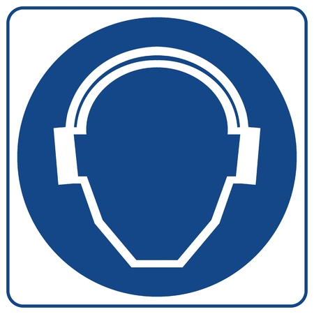 Mandatory Signs -Ears Protection Must Be Worn In This Area.