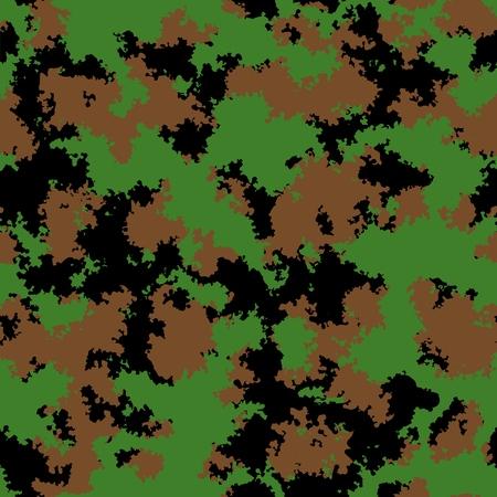 Fashion camo design. Color clouds seamless pattern vector. Trendy camouflage fabric pattern. Ilustração