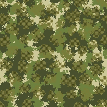 Fashion camo design. Color clouds seamless pattern vector. Trendy camouflage fabric pattern. Ilustrace