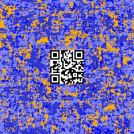 Actual neon colors camouflage vector pattern. Seamless fabric design with QR-data Fashion Camo.