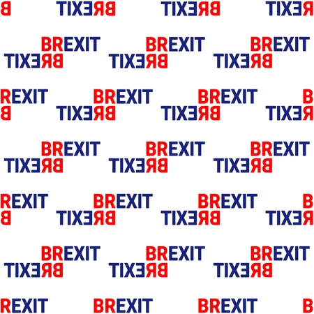 Brexit Concept Sign Text Isolated. United Kingdom Exit From Europe relative image. Brexit Politic Process. Referendum Theme Seamless Pattern Illustration