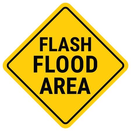 Warning Sign Flood Warning. Flash Flood Watch.