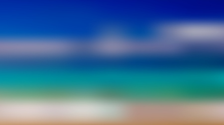 Abstract summer background with the sun and the sea. Illustration