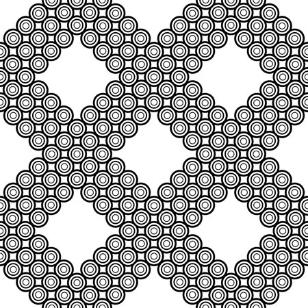 The geometric pattern. Seamless vector background. Black and white texture. Graphic modern pattern. Banco de Imagens - 124991019