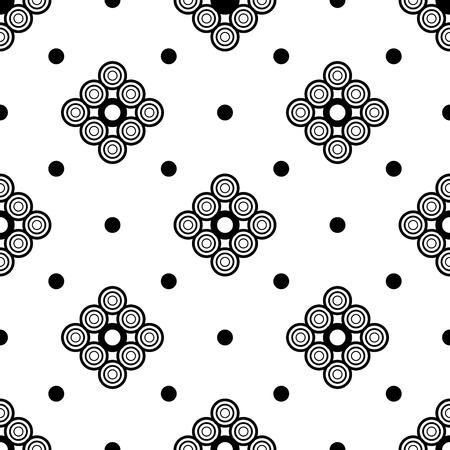 The geometric pattern. Seamless vector background. Black and white texture. Graphic modern pattern. Banco de Imagens - 124991022