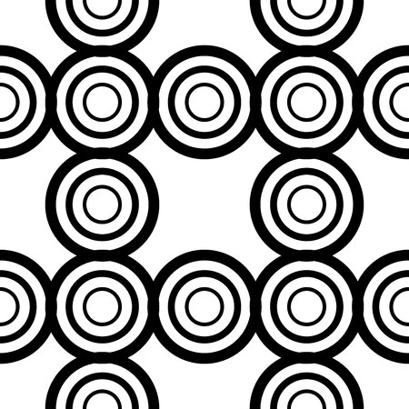 The geometric pattern. Seamless vector background. Black and white texture. Graphic modern pattern.