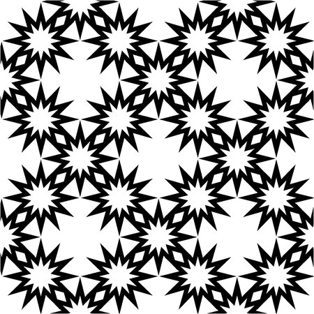 The geometric pattern. Seamless vector background. Black and white texture. Graphic modern pattern. Banco de Imagens - 124991026