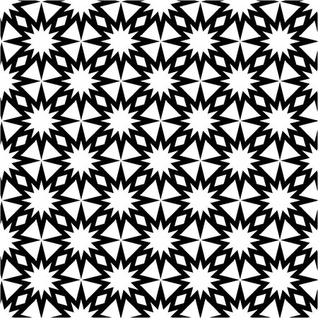 The geometric pattern. Seamless vector background. Black and white texture. Graphic modern pattern. Banco de Imagens - 124991027