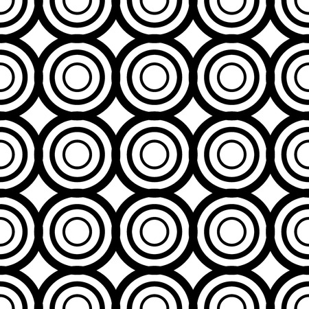 The geometric pattern. Seamless vector background. Black and white texture. Graphic modern pattern. Banco de Imagens - 124991031