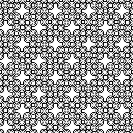 The geometric pattern. Seamless vector background. Black and white texture. Graphic modern pattern. Banco de Imagens - 124991036