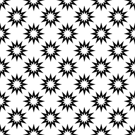 The geometric pattern. Seamless vector background. Black and white texture. Graphic modern pattern. Banco de Imagens - 124991038