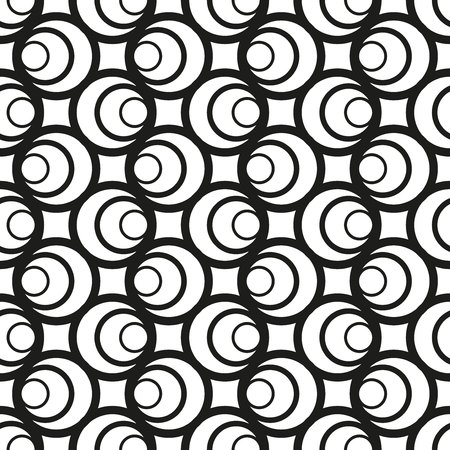 The geometric pattern. Seamless vector background. Black and white texture. Graphic modern pattern. Banco de Imagens - 124991039