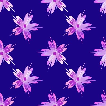 Sakura flower. Cherry blossom seamless pattern design element. perfect texture for backgrounds Ilustração