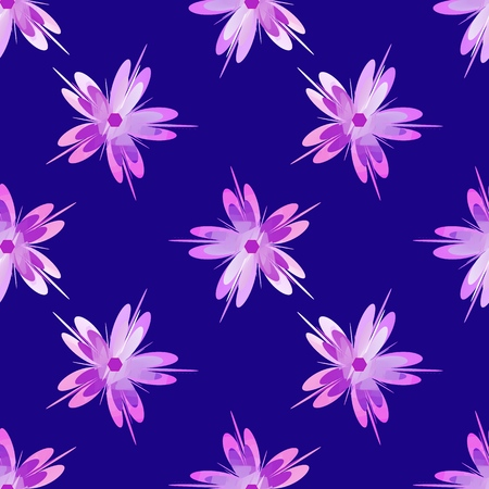 Sakura flower. Cherry blossom seamless pattern design element. perfect texture for backgrounds Illustration