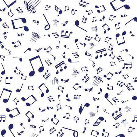 Seamless vector music notes symbols design pattern.