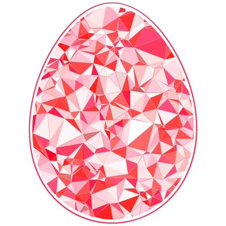 Colorful Happy Easter Egg for greeting card polygonal style Çizim