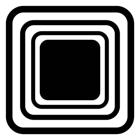 vector rounded rectangle pattern. texture black and white. abstract geometric ornament background.