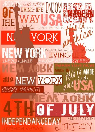 New York Usa NYC Poster 4TH July Edition