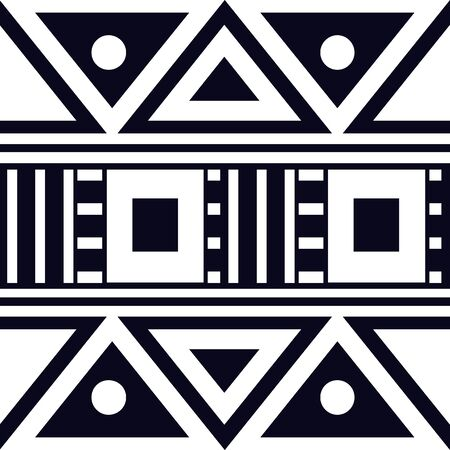 Geometric ethnic ornament for ceramics, wallpaper, textile, web, cards. Ethnic pattern. Border ornament. Tribal ornament for fabric, surface design, wrapping paper or template.
