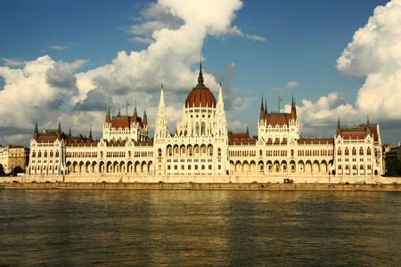 National Parliament in Budapest , Hungary  photo