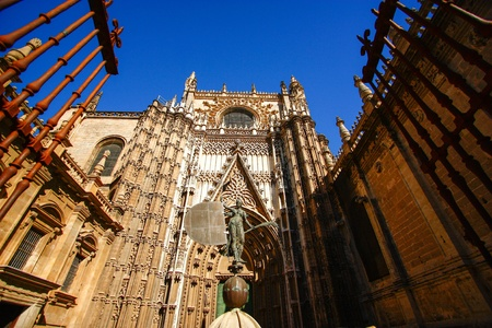 Gate of Cathedral , Sevilla , Spain Stock Photo - 17454239