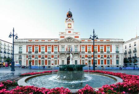 The old Post office at Puerta del Sol, Km 0, Madrid, Spain