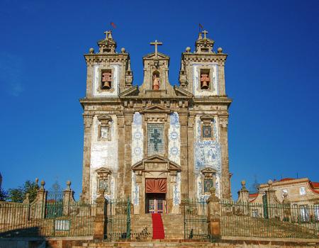 Igreja de sto Ildefonso chruch,  Porto, Portugal Stock Photo