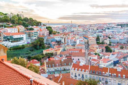 jorge: View over Baixa and Castelo de Sao Jorge, Lisbon, Portugal