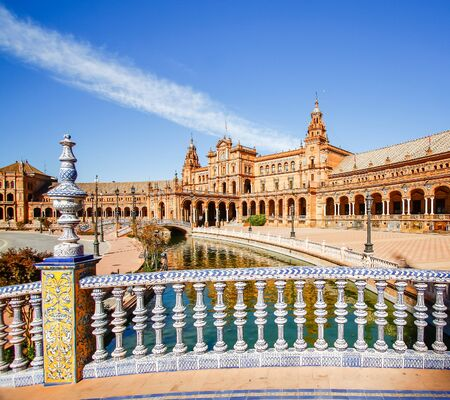 seville: Spanish Square (Plaza de Espana) in Sevilla, Spain