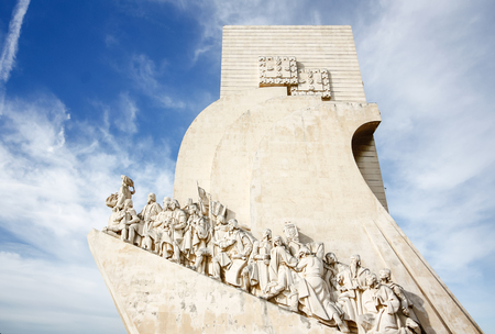 discoverer: Monument to the discoveries Lisbon Portugal