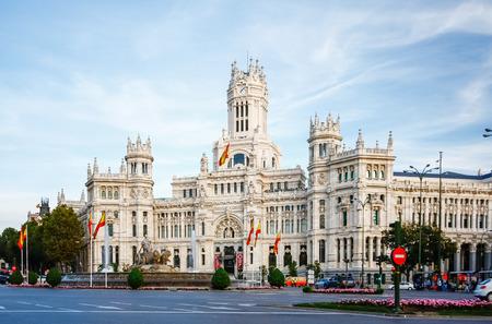 cibeles: Palacio de Comunicaciones at Plaza de Cibeles in Madrid, Spain