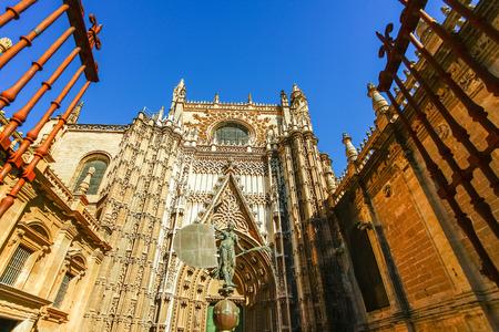 sevilla: Gothic architecture of Sevilla Cathedral in Sevilla, Spain