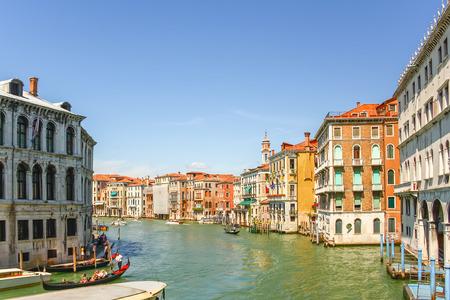 saint mark square: VENICE, ITALY - AUG 13, 2011 : Gondolas sailing in Grand canal, Venice, Italy