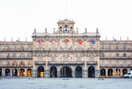 a nocturne: Plaza Mayor in Salamanca, Castilla y Leon, Spain