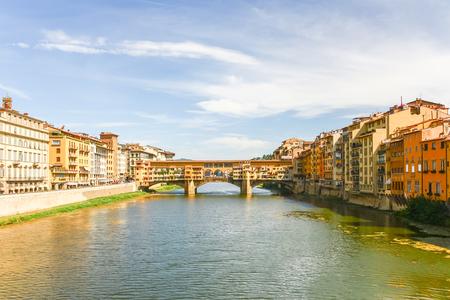 Ponte Vecchio over Arno river in Florence, Italy Stock Photo