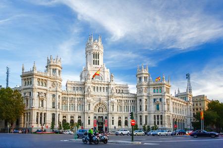 Palacio de Comunicaciones at Plaza de Cibeles in Madrid, Spain