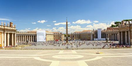 Saint Peter's Square in Vatican Stock Photo