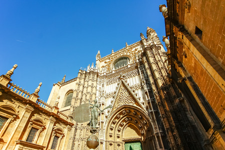 gothic architecture: Gothic architecture of Sevilla Cathedral in Sevilla, Spain