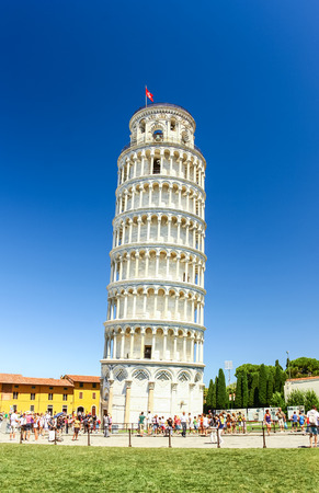 PISA, ITALY - AUG 11, 2011 : Leaning tower of Pisa in Pisa, Italy Editorial